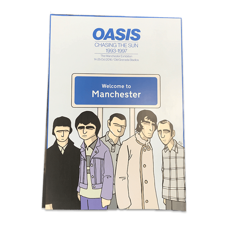 Buy Online Oasis - Chasing The Sun Exhibition Welcome to Manchester Poster