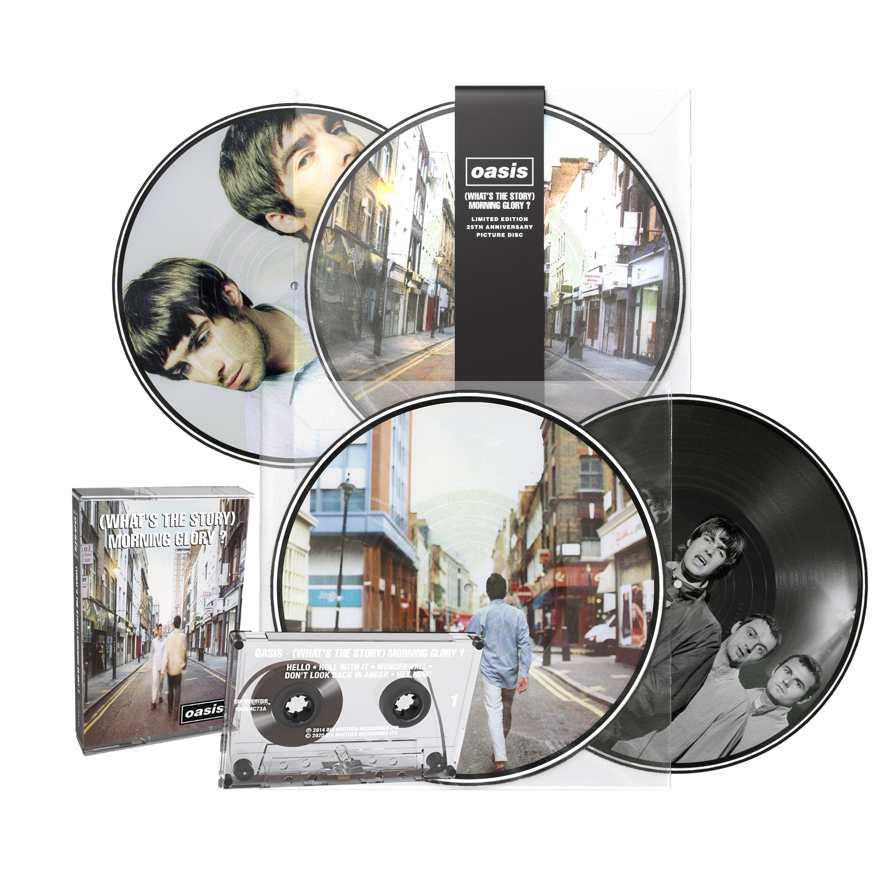 Buy Online Oasis - (What's The Story) Morning Glory? - 25th Anniversary Vinyl Picture Disc + Cassette + Wonderwall Lyric Sheet