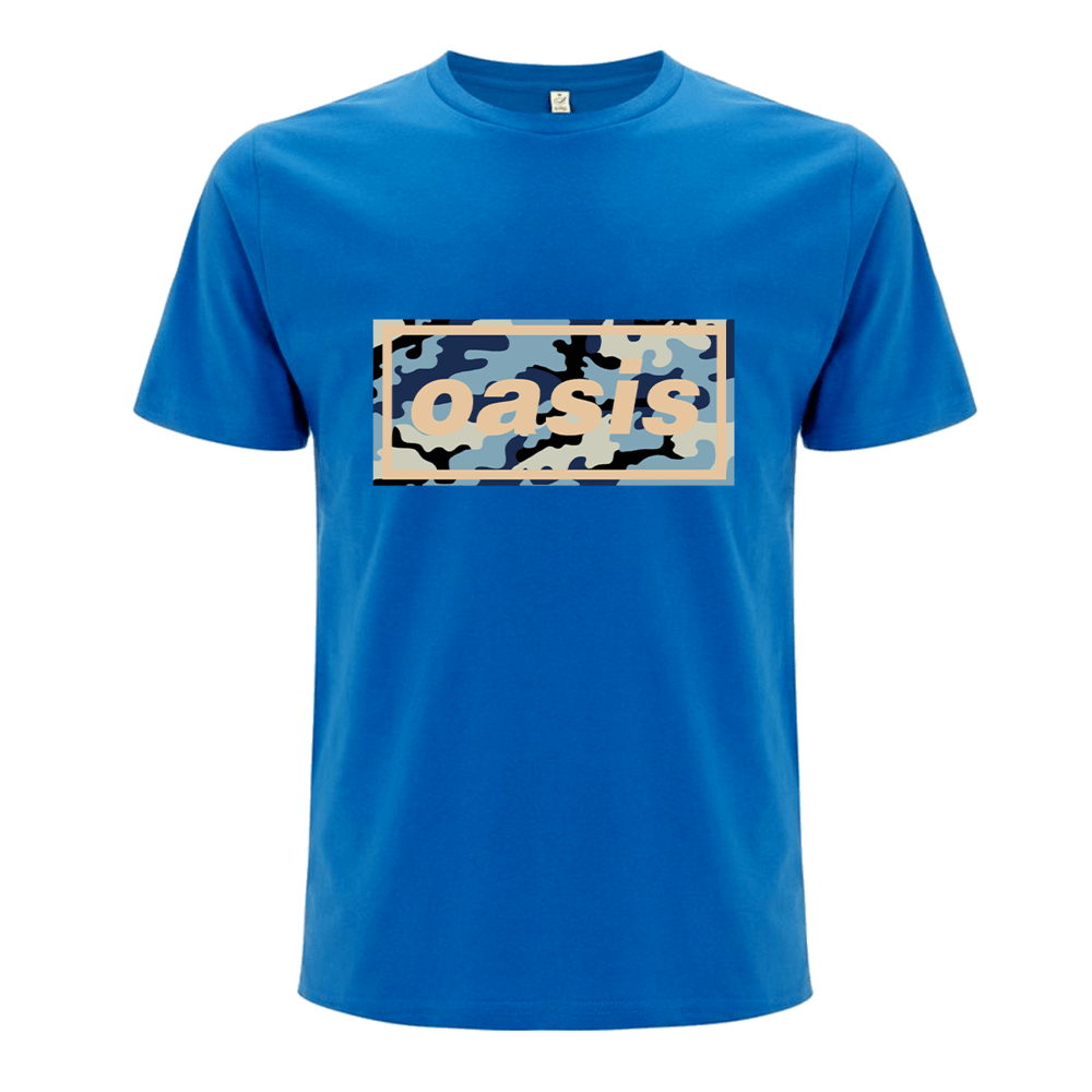 Buy Online Oasis - Oasis Replica 1996 Logo Blue T-shirt