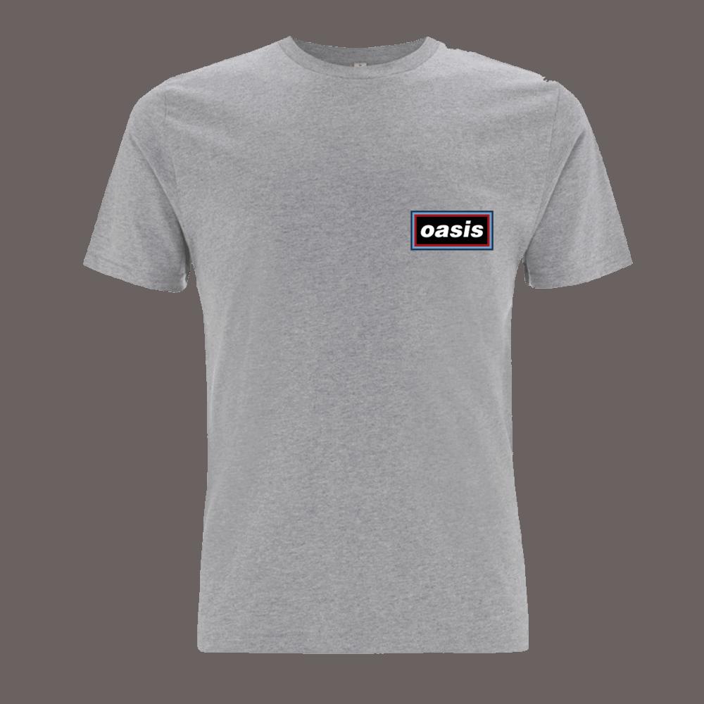 Buy Online Oasis - Oasis Replica 1996 Logo Grey T-shirt
