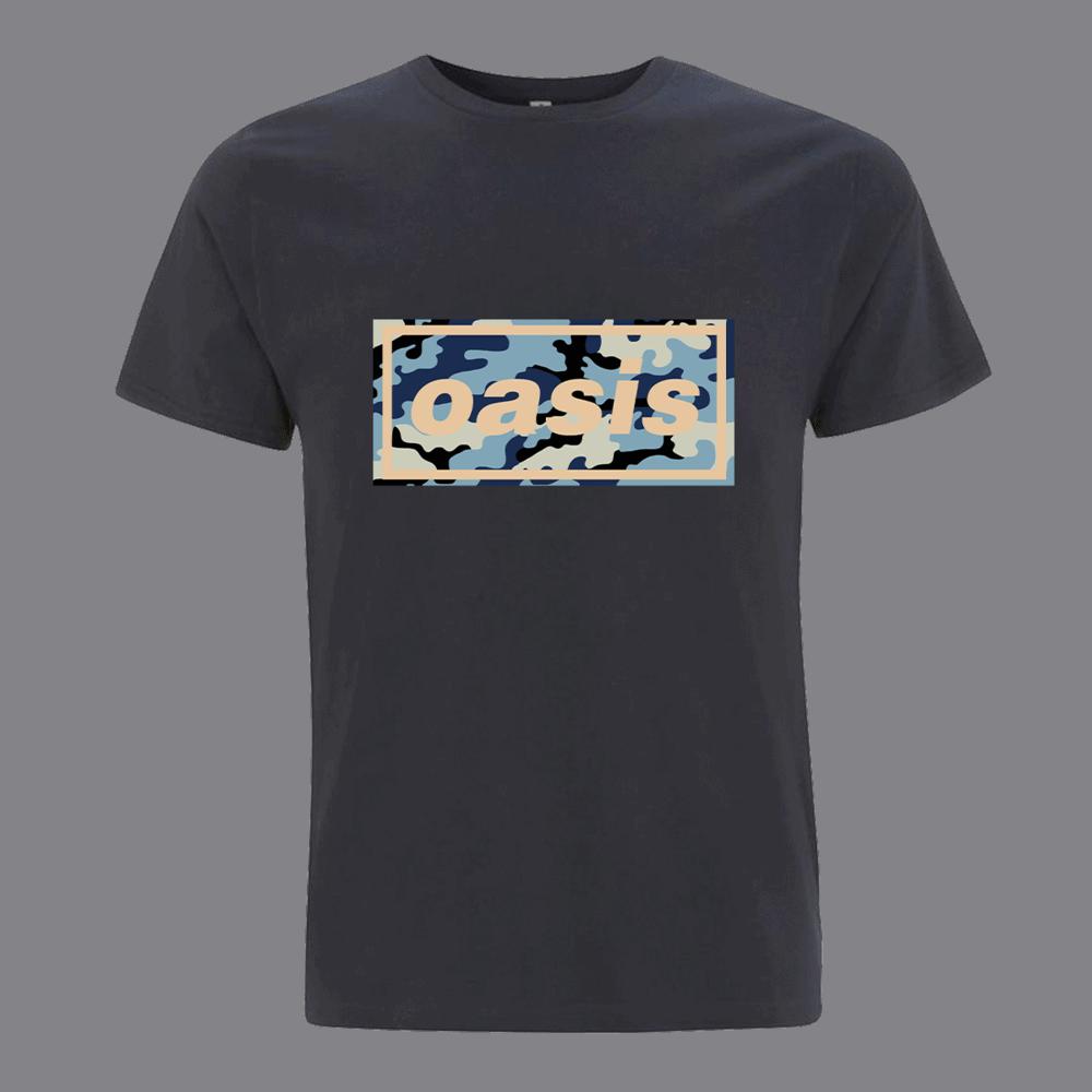 Buy Online Oasis - Oasis Replica 1996 Logo Navy T-shirt