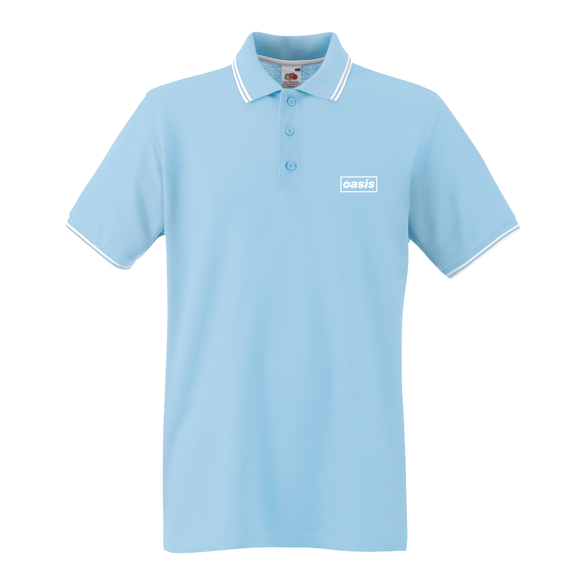 Buy Online Oasis - Oasis Replica Tour Sky Blue Polo