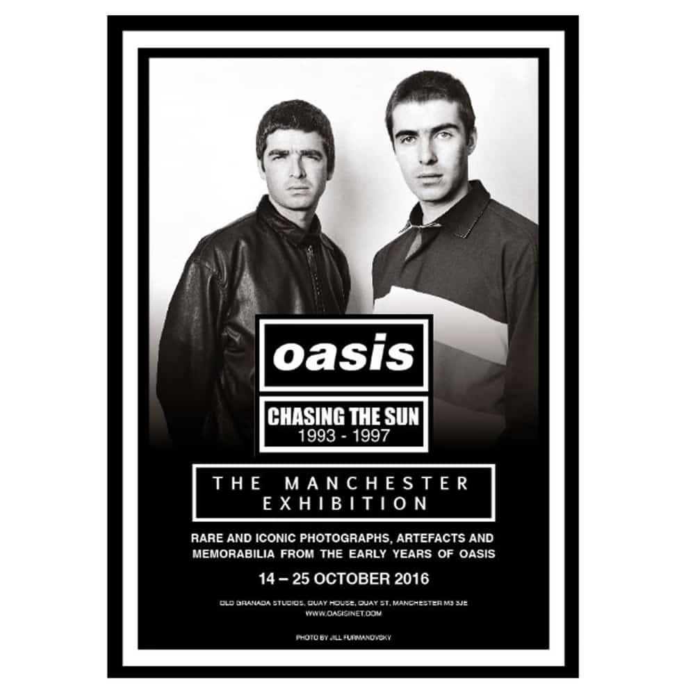 Buy Online Oasis - Chasing The Sun Exhibition Poster