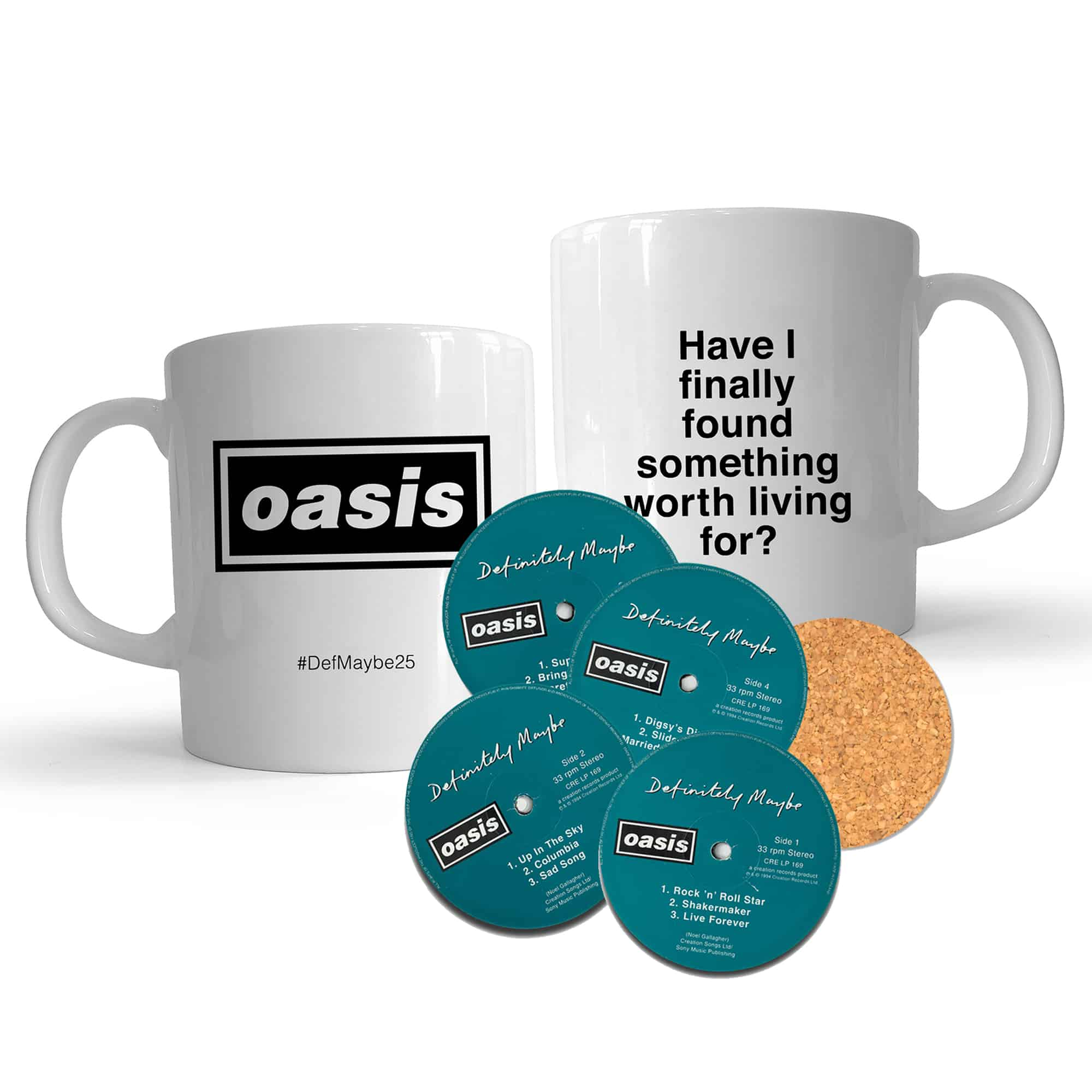 Buy Online Oasis - Lyric Mug + Definitely Maybe Coaster Set