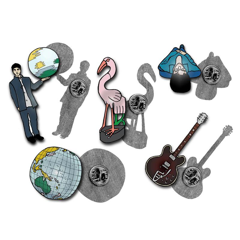 Buy Online Oasis - Set Of 5 x Badges