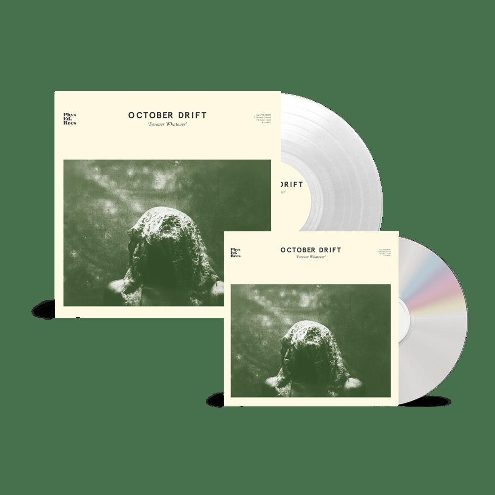 Buy Online October Drift - 'Forever Whatever' CD + Heavyweight 180g (Ltd Edition Clear Vinyl)