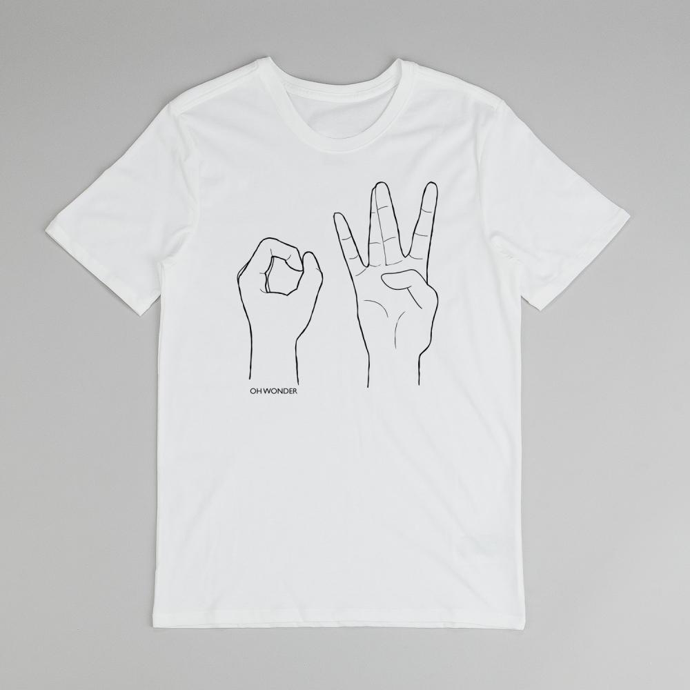 Buy Online Oh Wonder - White OW Hands T-Shirt