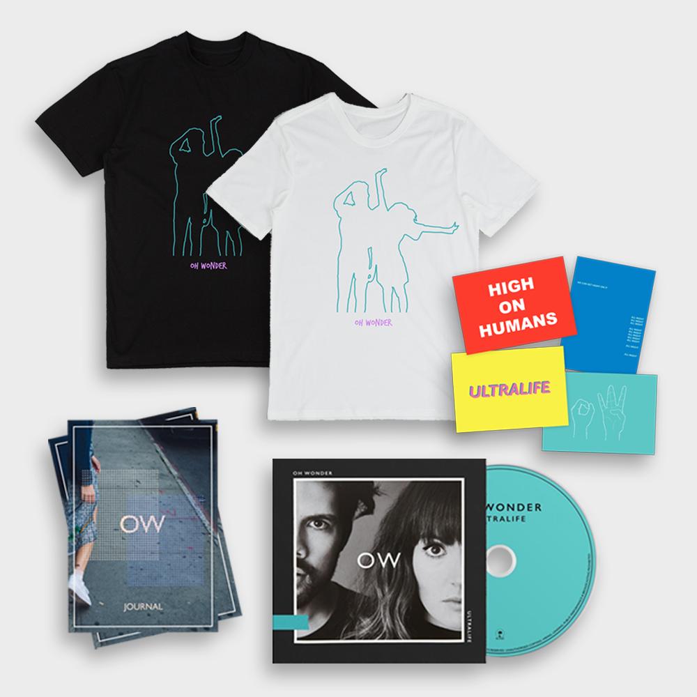 Buy Online Oh Wonder - Ultralife CD (Signed) + T-Shirt + Journal + Postcards