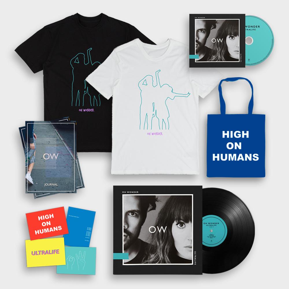 Buy Online Oh Wonder - Deluxe Bundle - Ultralife CD + LP + T-Shirt + Journal + Postcards + Tote Bag