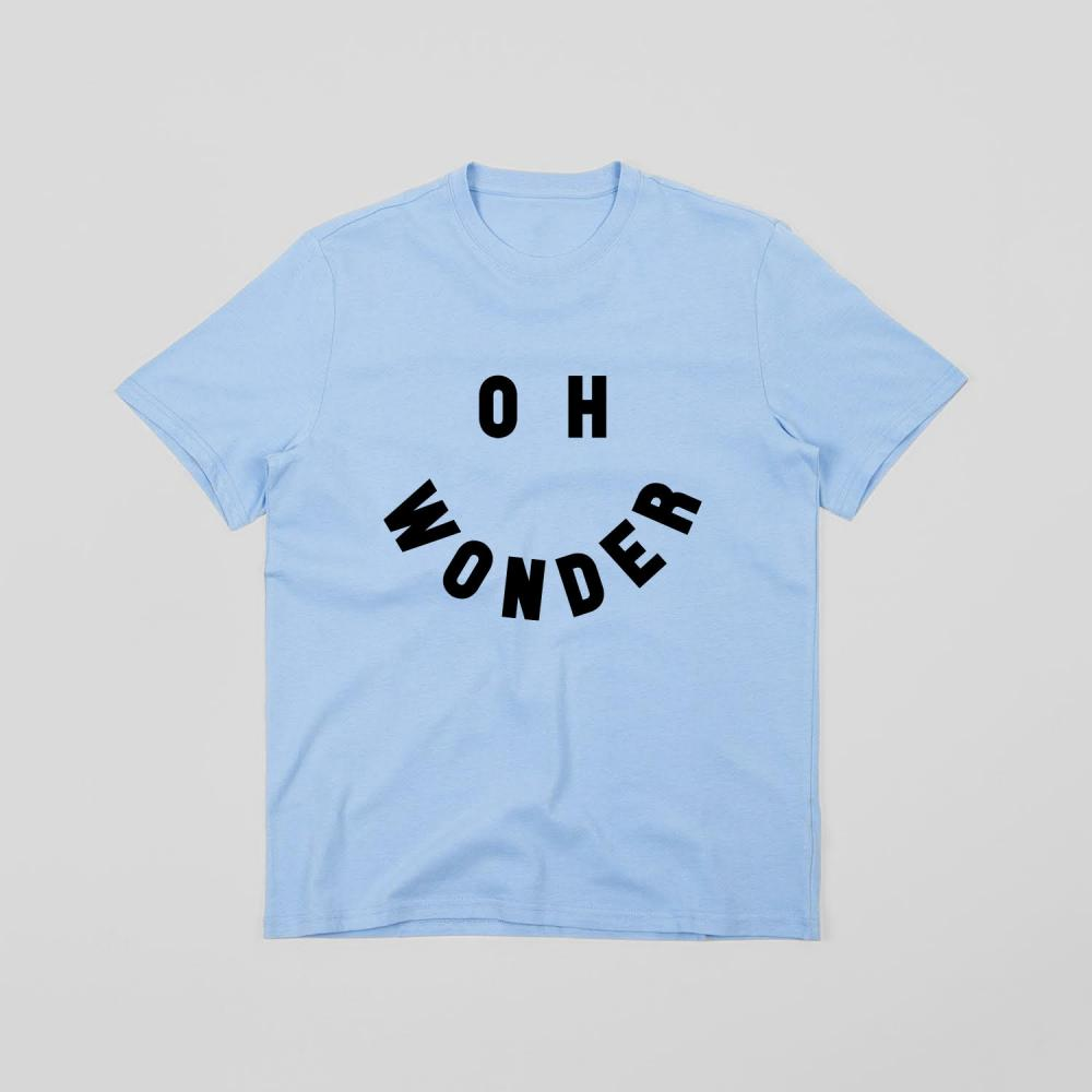 Buy Online Oh Wonder - Smile T-Shirt (Blue)