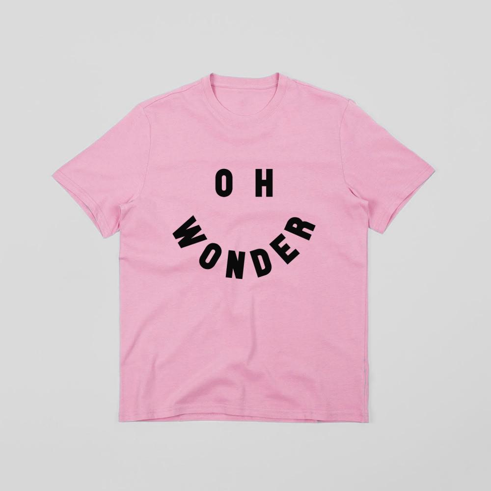 Buy Online Oh Wonder - Smile T-Shirt (Pink)