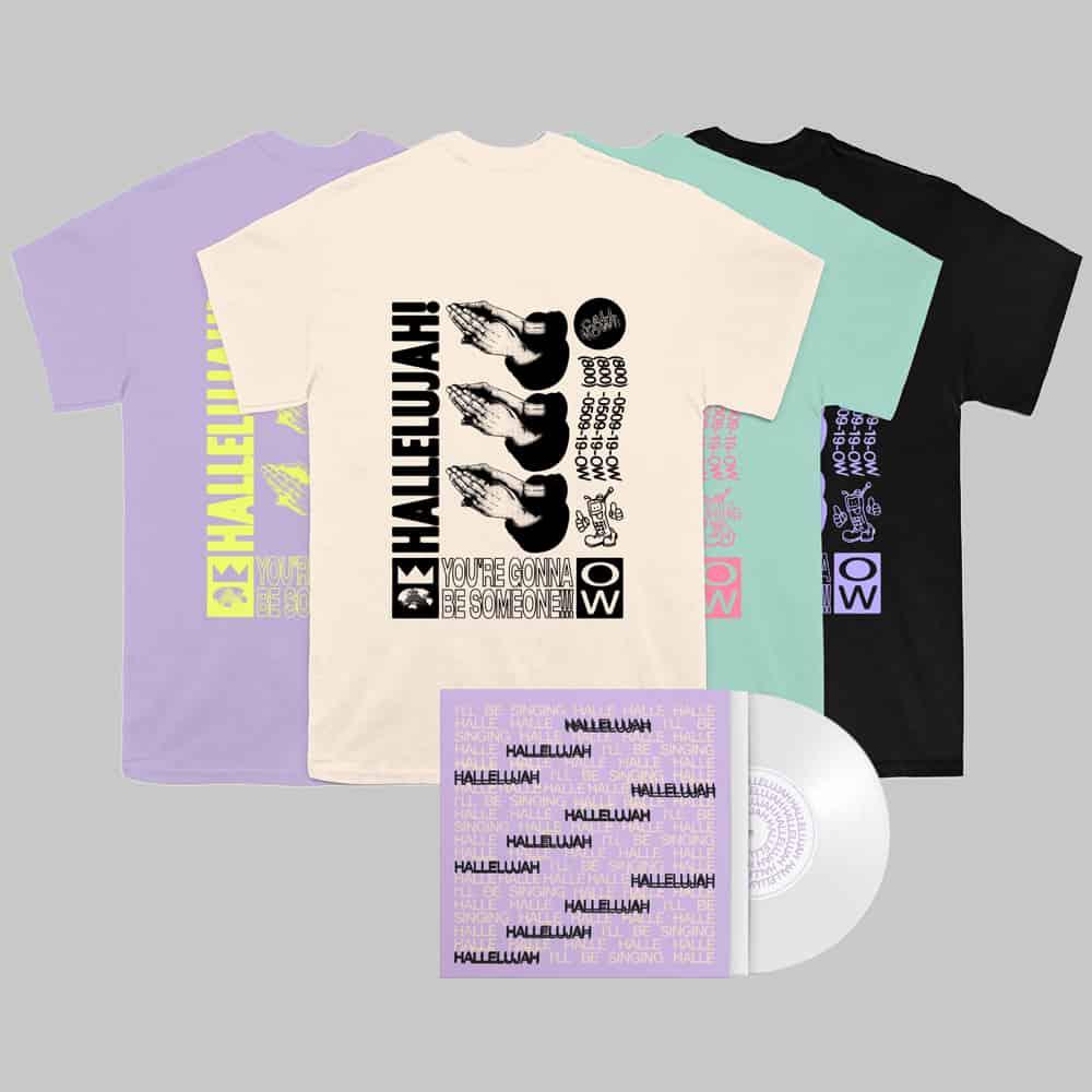 Buy Online Oh Wonder - Hallelujah White 7-Inch Vinyl + Art Card (Signed) + T-Shirt