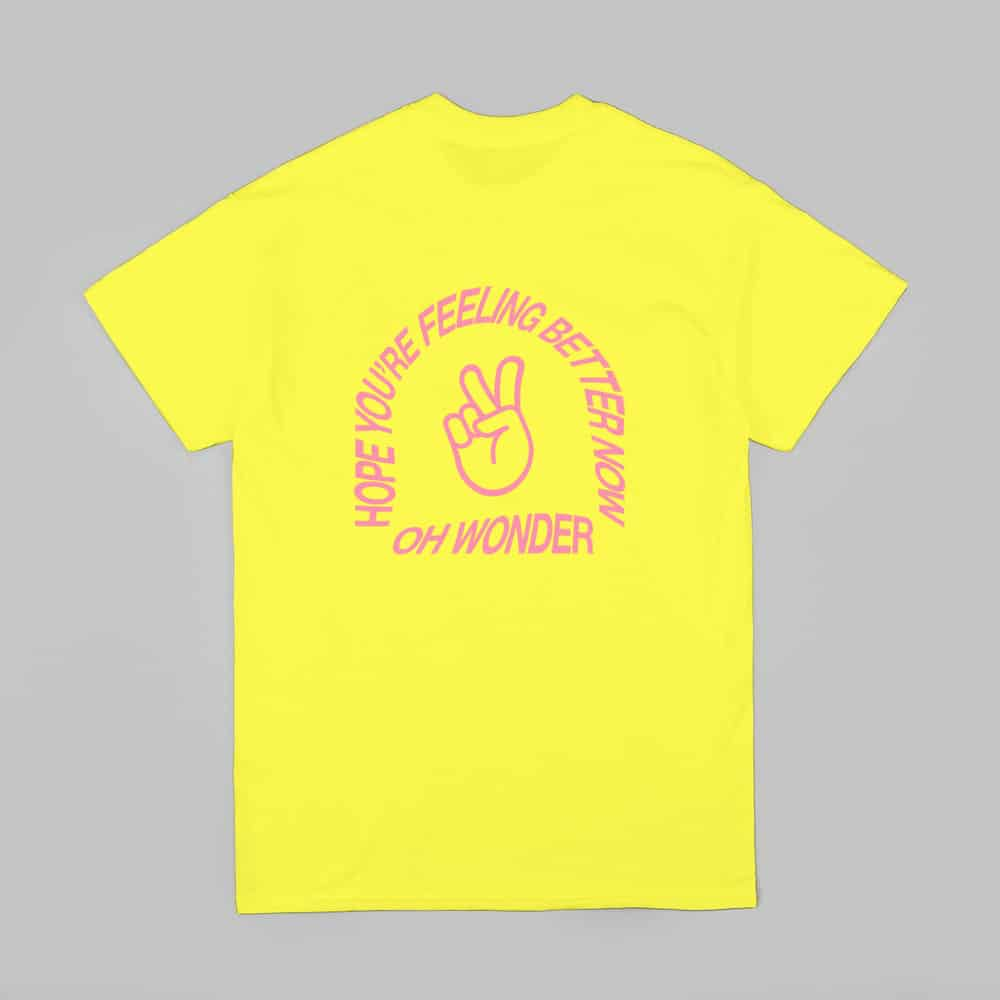 Buy Online Oh Wonder - Better Now T-Shirt // Yellow