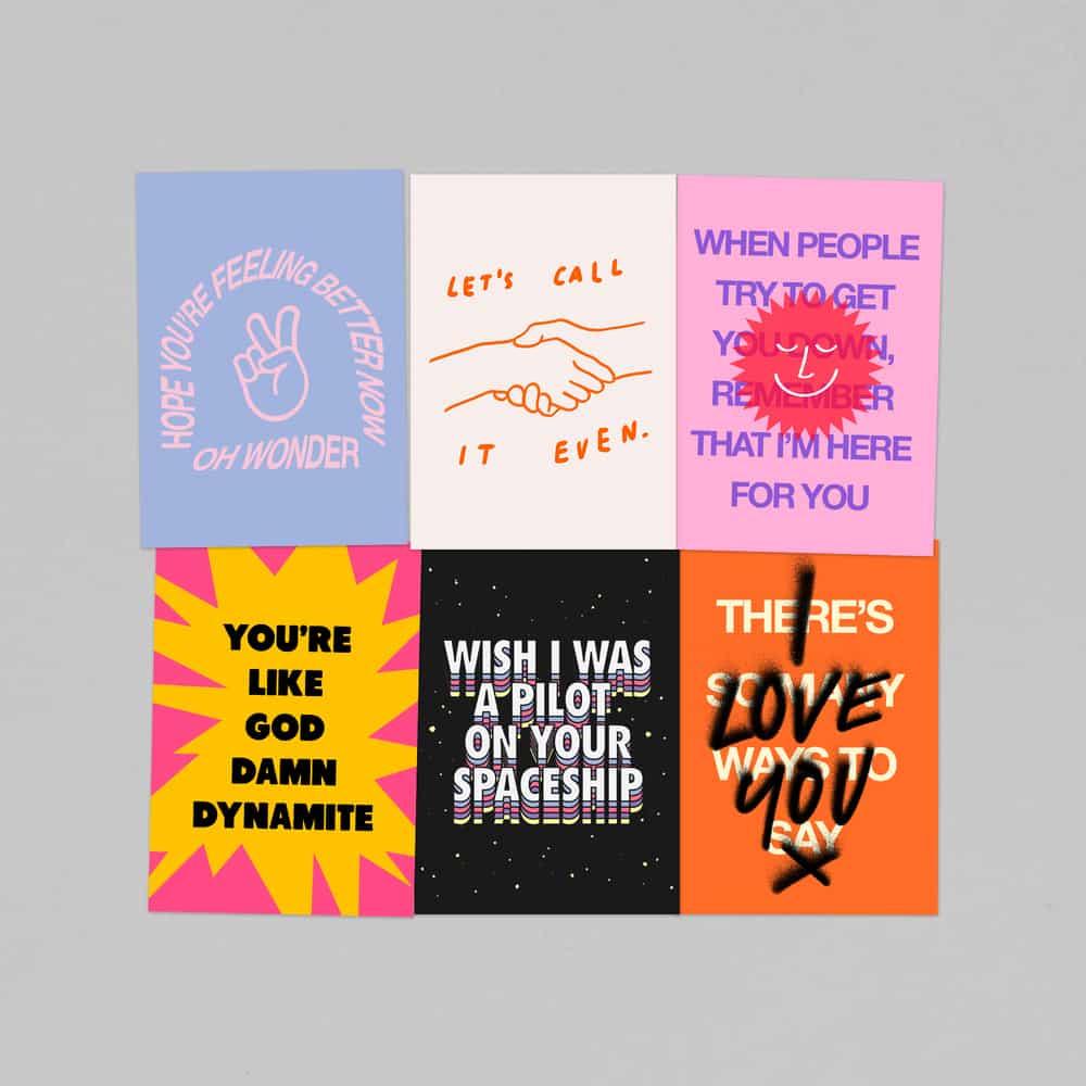 Buy Online Oh Wonder - Pack Of 6 x Postcards