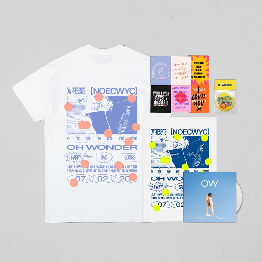 Buy Online Oh Wonder - No One Else Can Wear Your Crown Deluxe CD (Signed) + T-Shirt + Postcards + Mirror + Poster (Signed)