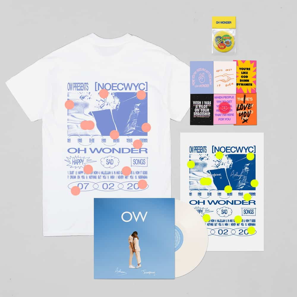 Buy Online Oh Wonder - No One Else Can Wear Your Crown Exclusive White Vinyl (Signed) + T-Shirt + Postcards + Mirror + Poster (Signed)