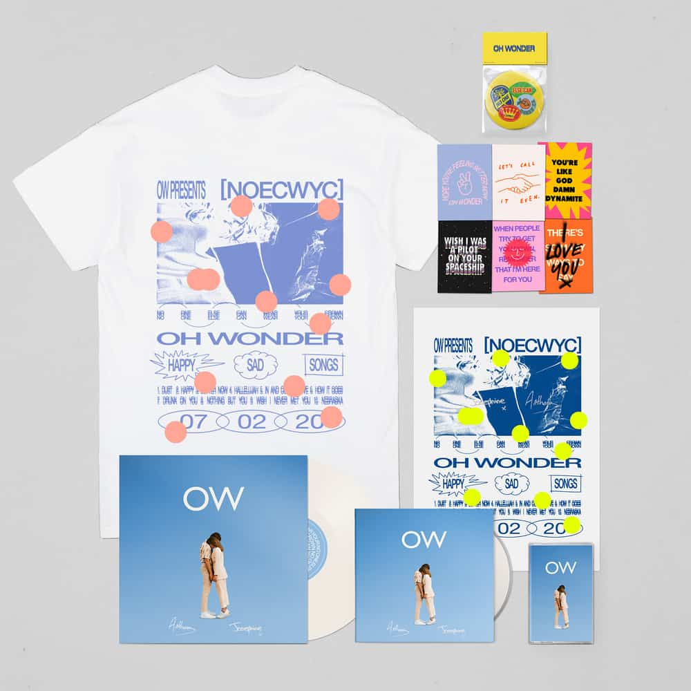 Buy Online Oh Wonder - No One Else Can Wear Your Crown Deluxe CD (Signed) + Exclusive White Vinyl (Signed) + Cassette + T-Shirt + Postcards + Mirror + Poster (Signed)