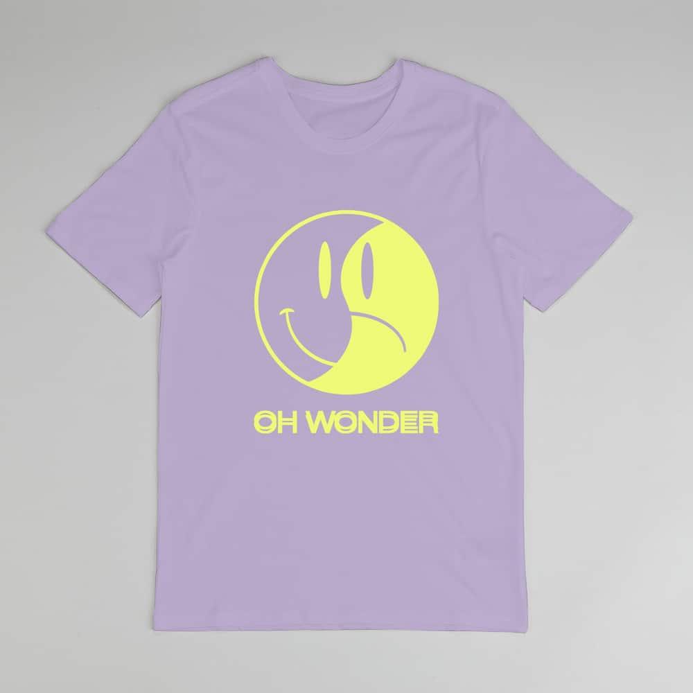 Buy Online Oh Wonder - Purple Happy/Sad T-Shirt