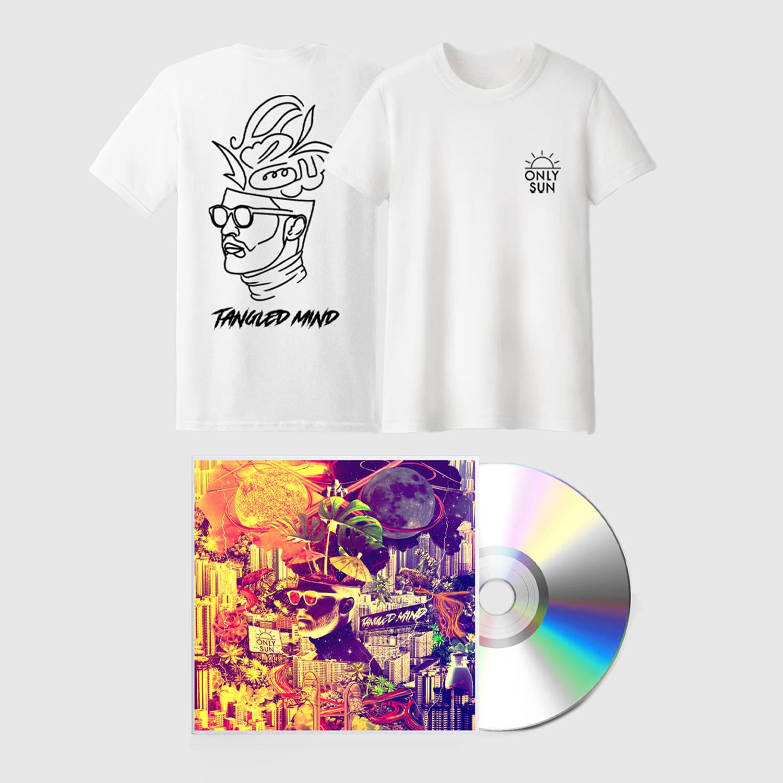 Buy Online Only Sun - Tangled Mind CD + White T-Shirt