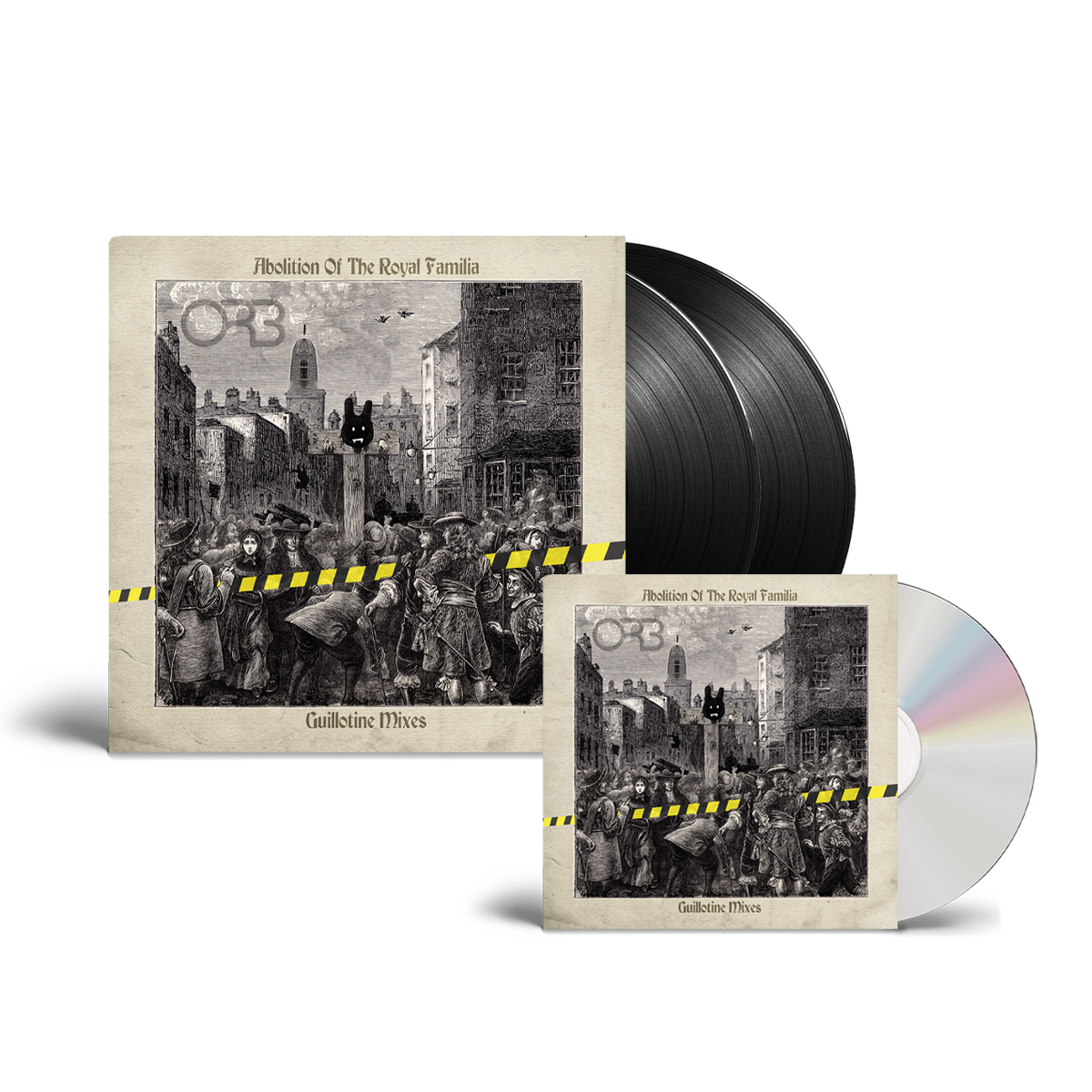 Buy Online The ORB - Abolition Of The Royal Familia - Guillotine Mixes CD + Black Double Vinyl