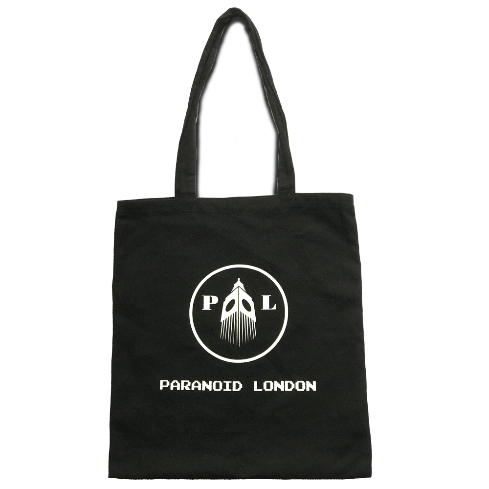 Buy Online Paranoid London - Black Logo Totebag