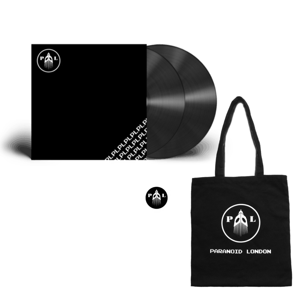 Buy Online Paranoid London - PL Double Vinyl + Black Logo Totebag (Includes Pin)