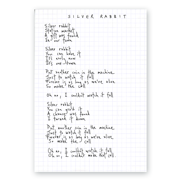 Buy Online Paul Smith - Handwritten Lyric Sheet (Ltd Edition, Signed)