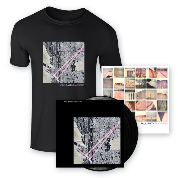 Buy Online Paul Smith - Diagrams Vinyl (Signed) + 12 x 12 Inch Print (Signed) + T-Shirt
