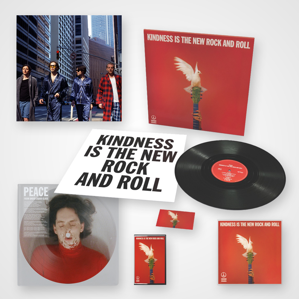 Buy Online Peace - Kindness Is The New Rock And Roll - CD (Signed) + Vinyl (Signed) + 12-Inch Picture Disc Single + Cassette + Art Print