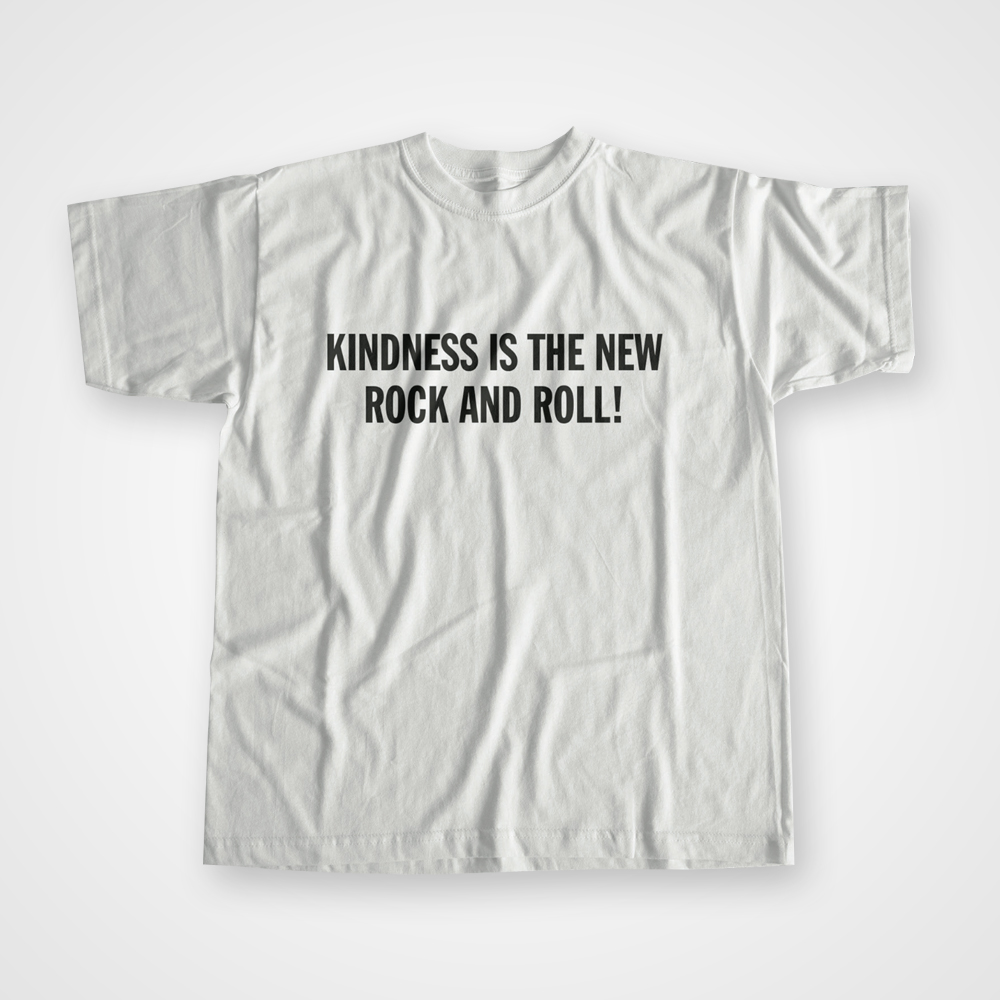 Buy Online Peace - Kindness Is The New Rock And Roll T-Shirt