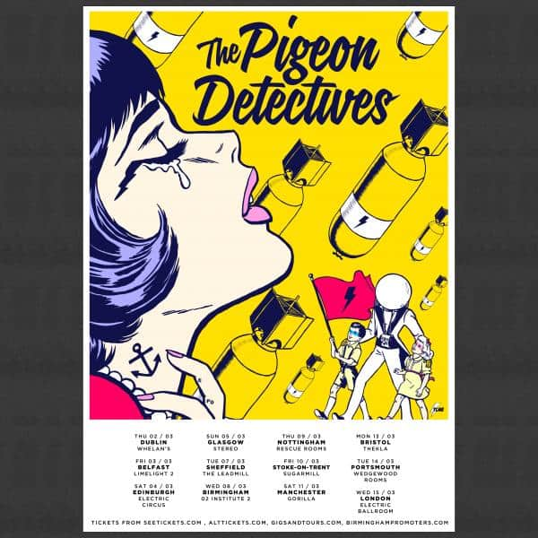 Buy Online The Pigeon Detectives - Signed A3 Poster