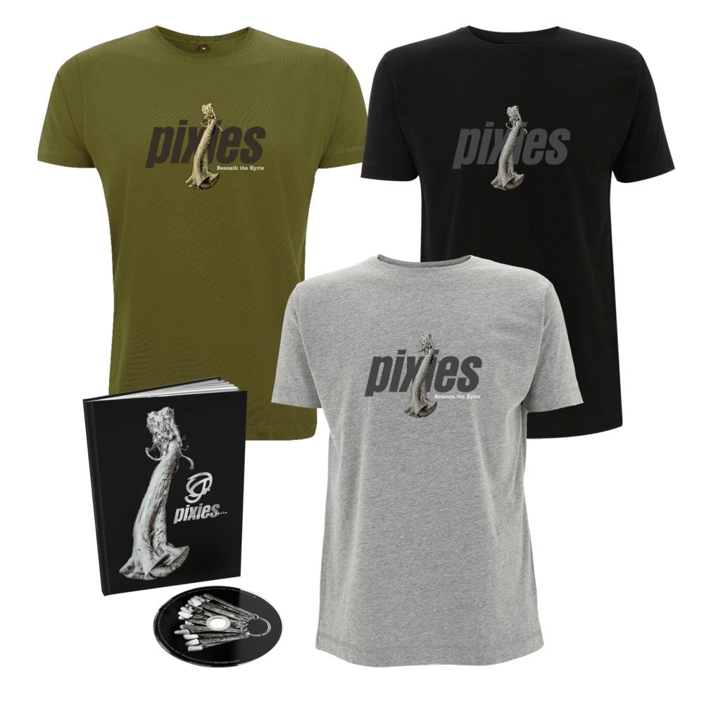 Buy Online Pixies - Beneath The Eyrie Deluxe CD + Choice Of T-Shirt