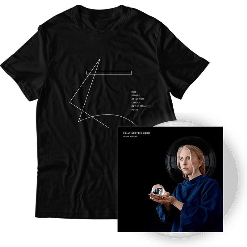 Buy Online Polly Scattergood - In This Moment Signed Clear Vinyl + T-Shirt