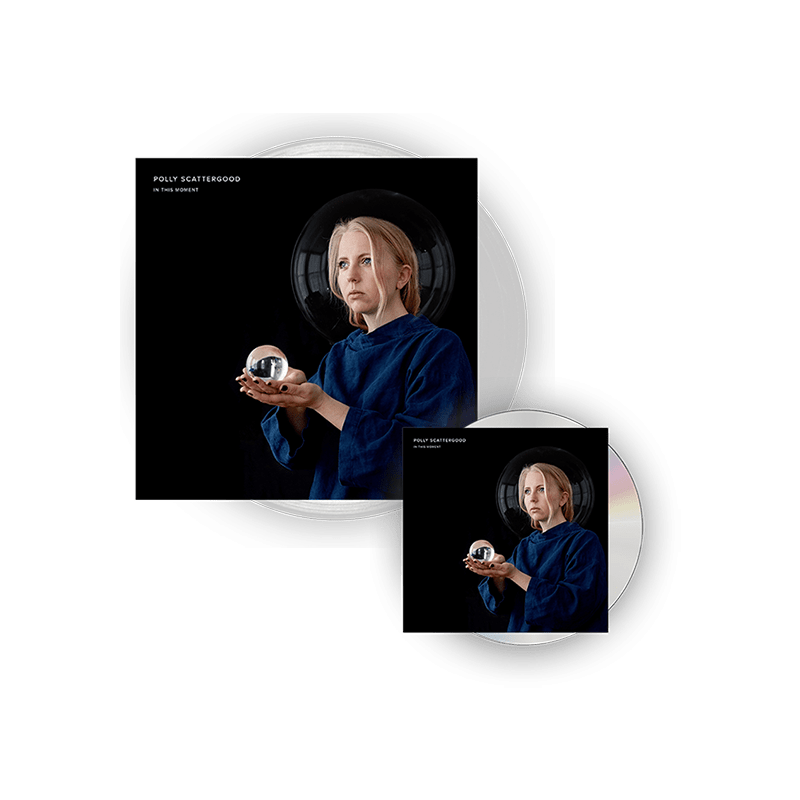 Buy Online Polly Scattergood - In This Moment Signed Clear Vinyl + Signed CD
