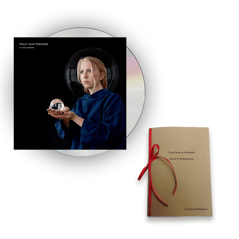 Buy Online Polly Scattergood - In This Moment Signed CD + Lines & Photographs Book (Hand Signed & Numbered)