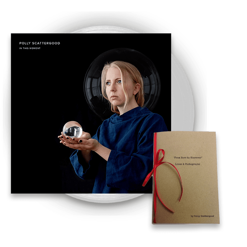 Buy Online Polly Scattergood - In This Moment Clear Signed Vinyl + Limited Edition Handwritten Lyric Book Bundle