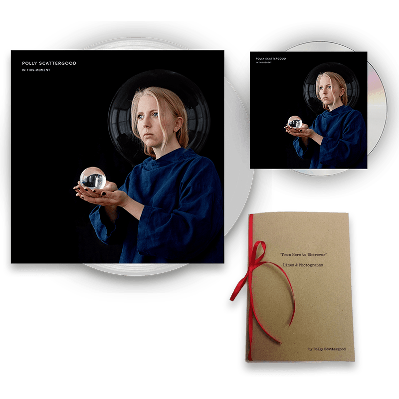 Buy Online Polly Scattergood - In This Moment Signed CD + Signed Clear Vinyl + Limited Edition Handwritten Lyric Book