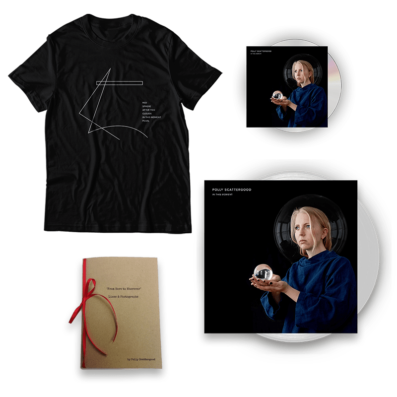 Buy Online Polly Scattergood - In This Moment Signed Cd + Signed Clear Vinyl + T-Shirt + Lines & Photographs Book (Hand Signed & Numbered)
