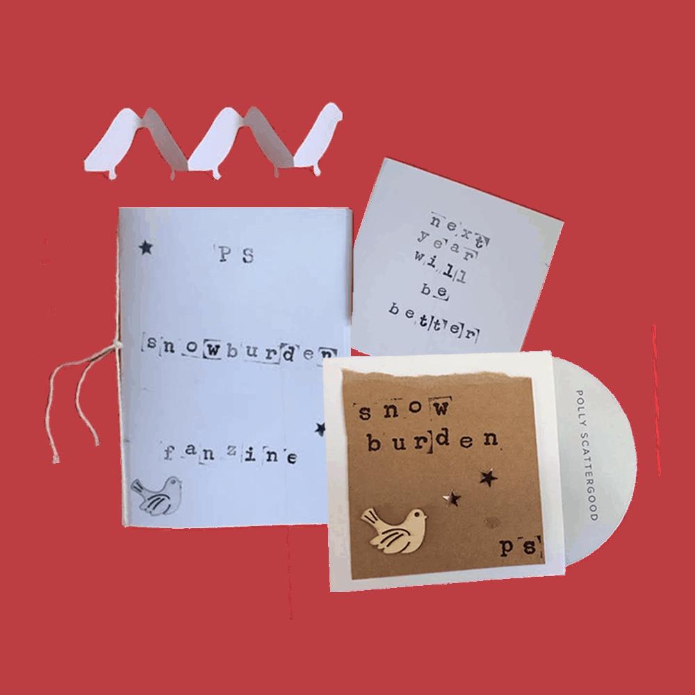 Buy Online Polly Scattergood - Snowburden Single CD (Handmade/Signed) + Fanzine