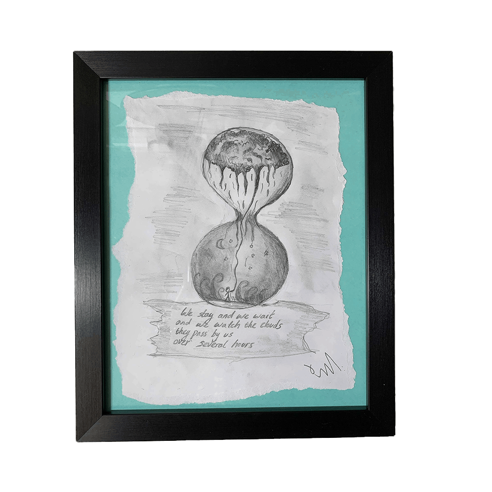 """Buy Online Polly Scattergood - Charcoal Sketch - """"we watch the clouds"""" (Green)"""
