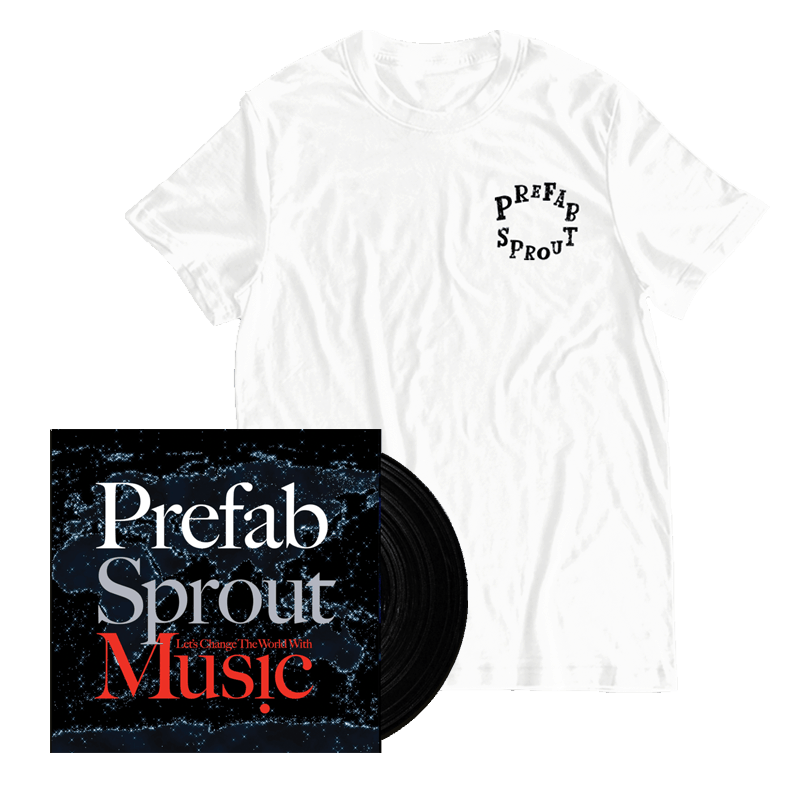 Buy Online Prefab Sprout - Let's Change The World With Music (Remastered) Heavyweight Vinyl + White T-Shirt