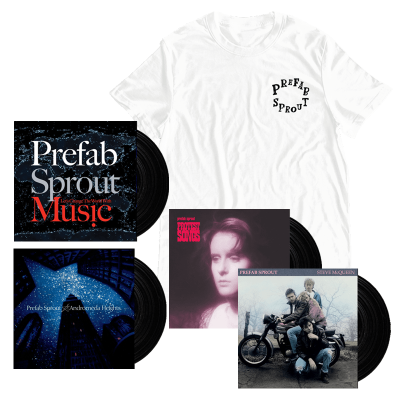 Buy Online Prefab Sprout - Super Bundle + White T-Shirt
