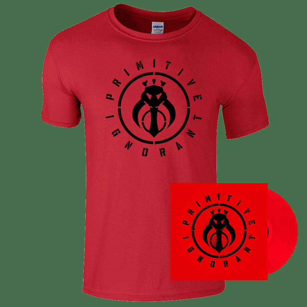 Buy Online Primitive Ignorant - Red Tee and Sikh Punk Red Vinyl 180gm Bundle
