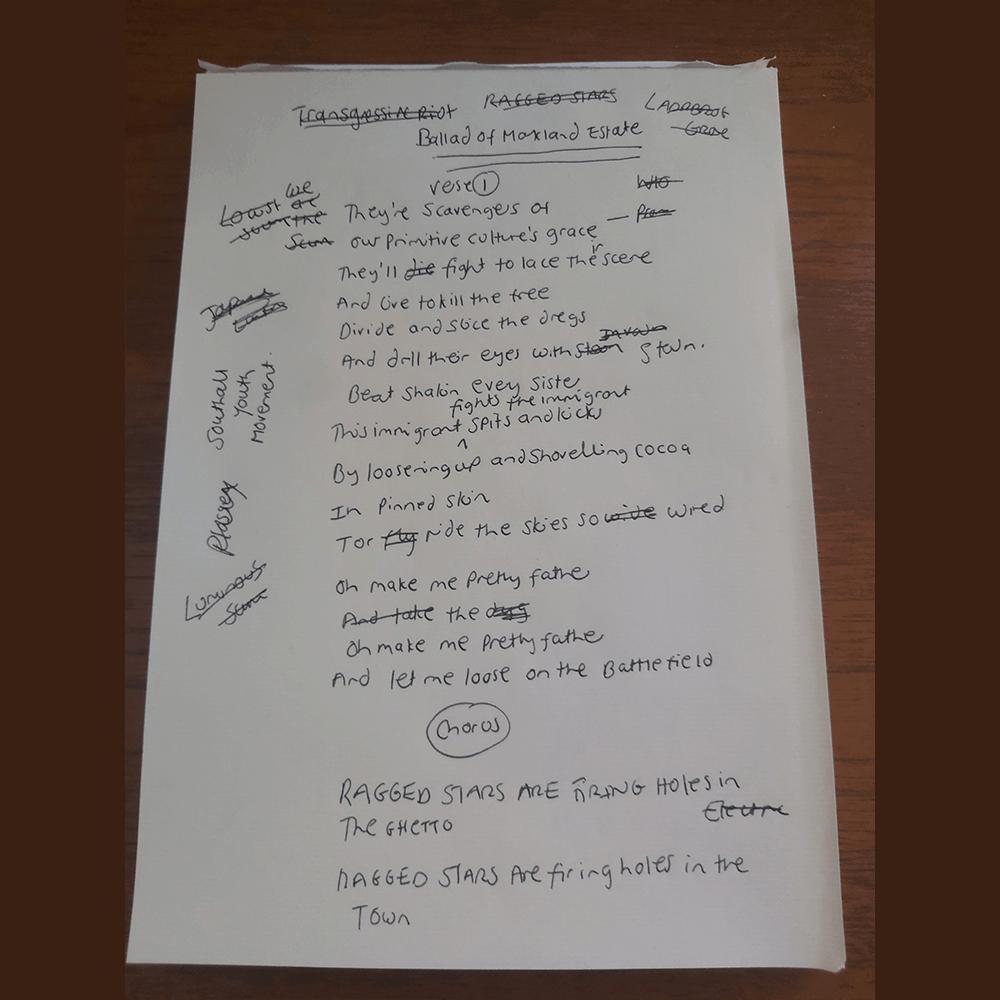 Buy Online Primitive Ignorant - Handwritten Limited Edition Lyric Sheets