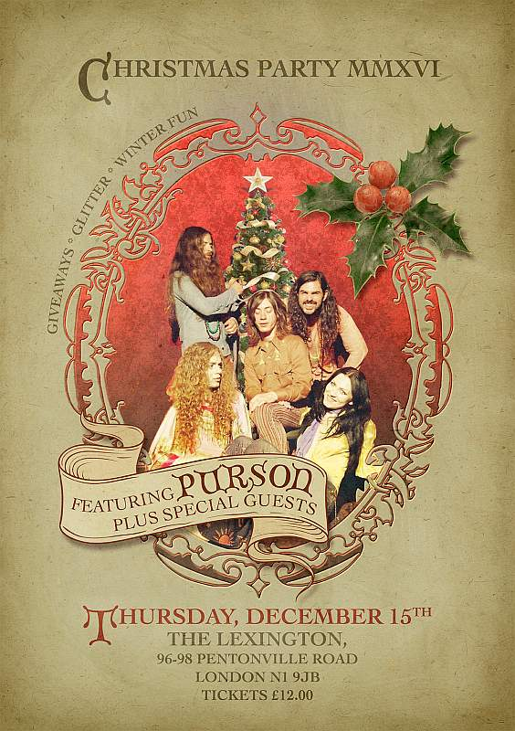 SPINEFARM RECORDS UK  Christmas Party MMXVI - Featuring PURSON + Special Guests