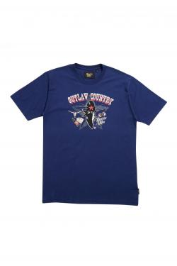 Buy Online Ramblin Man - Country Raider Blue T-Shirt Vintage 2016