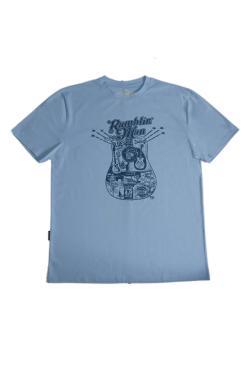 Buy Online Ramblin Man - Blue Mens 2017 T-Shirt