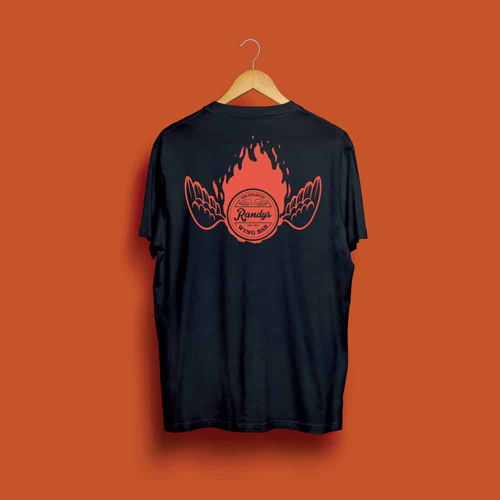 Buy Online Randy's Wing Bar - Fireball - Black Tee