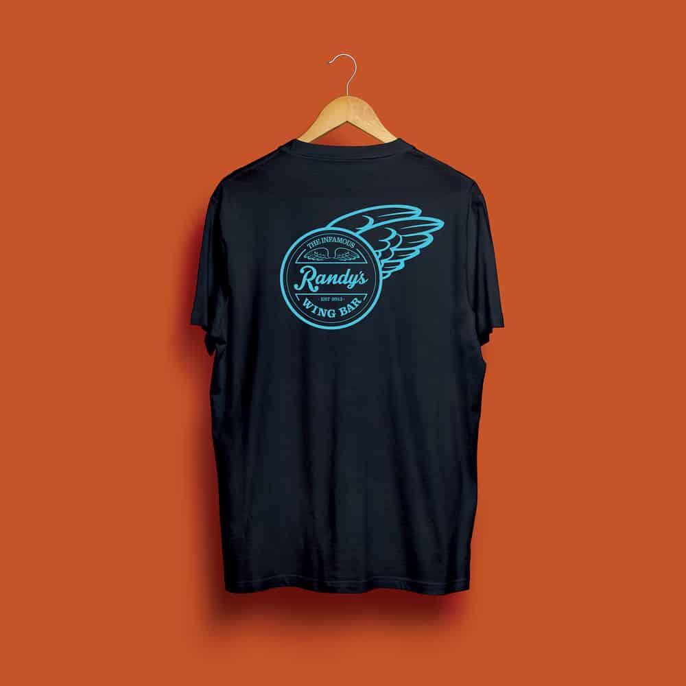 Buy Online Randy's Wing Bar - Fly Bye - Black/Blue Tee