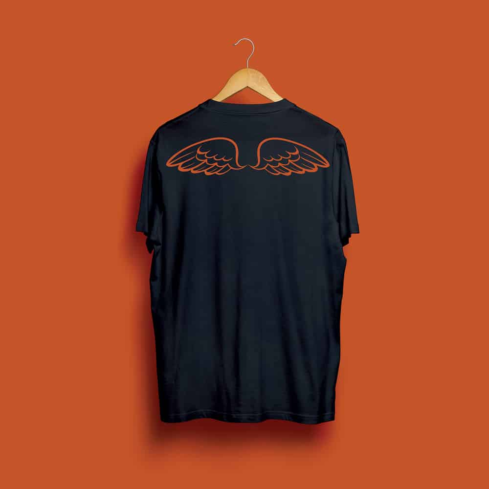 Buy Online Randy's Wing Bar - Gives You Wings - Black/Red Tee
